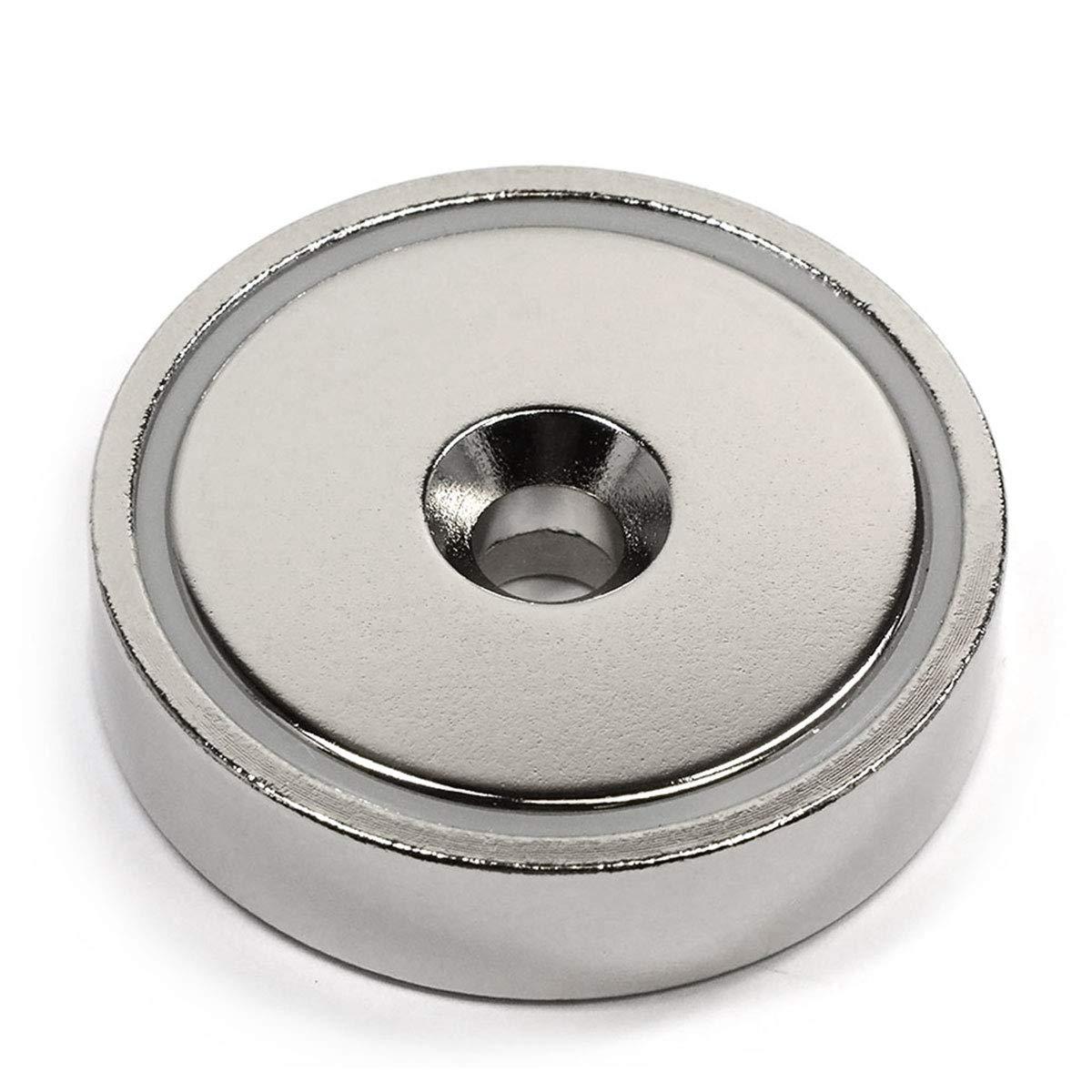 CMS Magnetics 150 LB Holding Power Neodymium Round Base Magnet w/Countersunk Hole 1.89'' - 1 Ct.