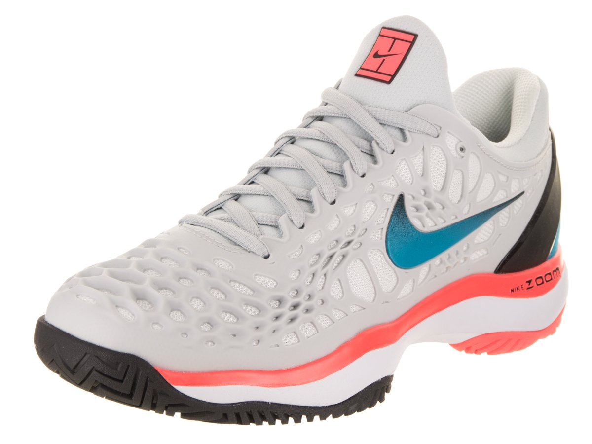NIKE Women's Zoom Cage 3 Tennis Shoes B0761YD5HN 5.5 B(M) US|Pure Platimun/Blue Nebula/Black/Hot Lava
