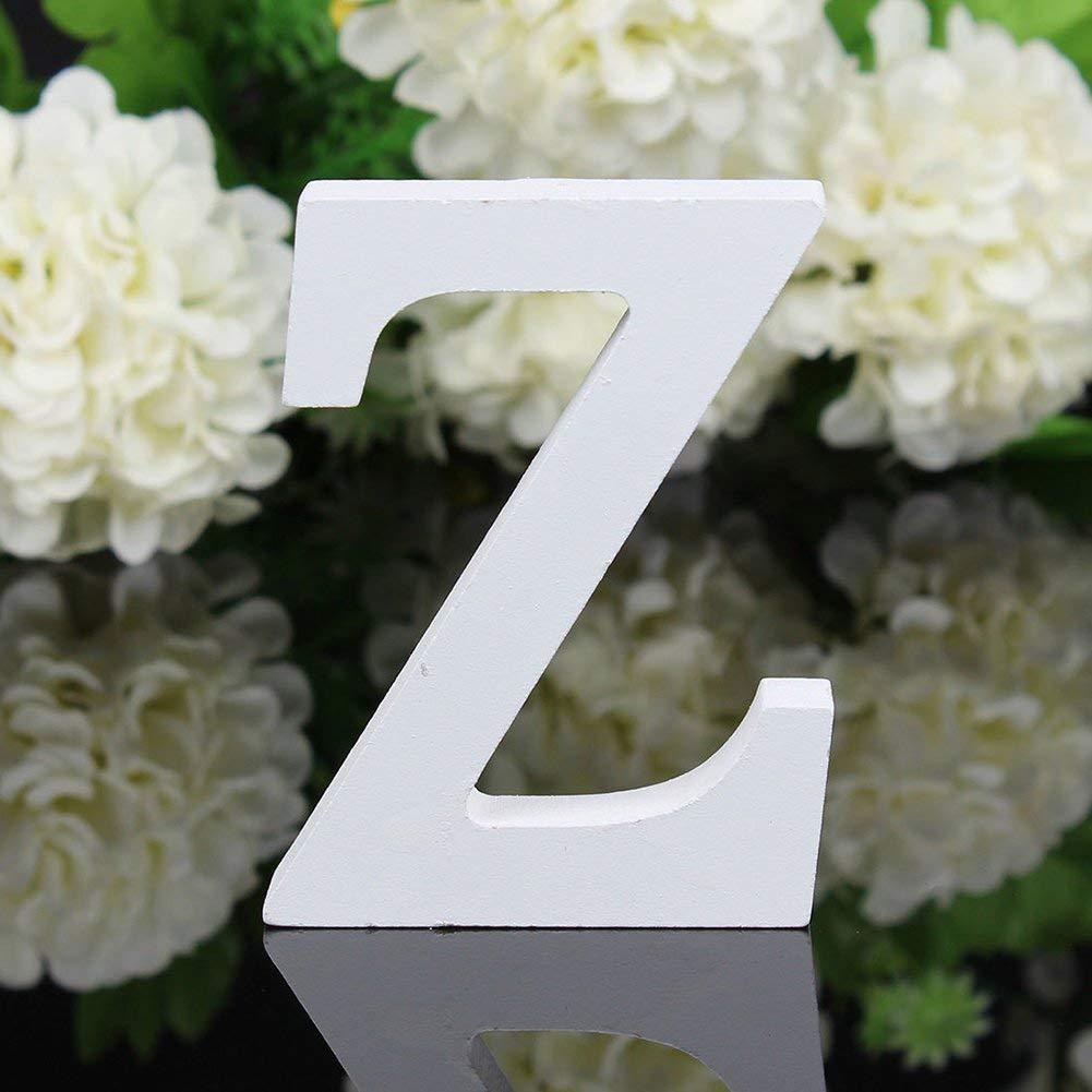 26 letras grandes de alfabeto para colgar en la pared decoraci/ón del hogar fiesta tienda small As Picture Show bricolaje palabras para boda Letras de madera independientes
