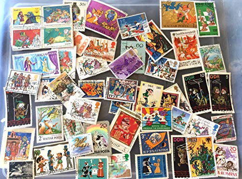 50 Fairy Tales and Legendary creatures on stamps, stamp collection, worldwide