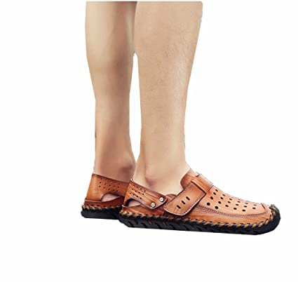 6017d5000 Amazon.com : BBG Summer Men's Sandals Casual Beach Shoes, Non-Slip wear  Slippers, Dual-use Cool Slippers, Brown, 38 : Sports & Outdoors