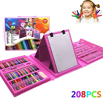 208 Piezas Maletin Pinturas para Niños, Lapices Colores, Set ...