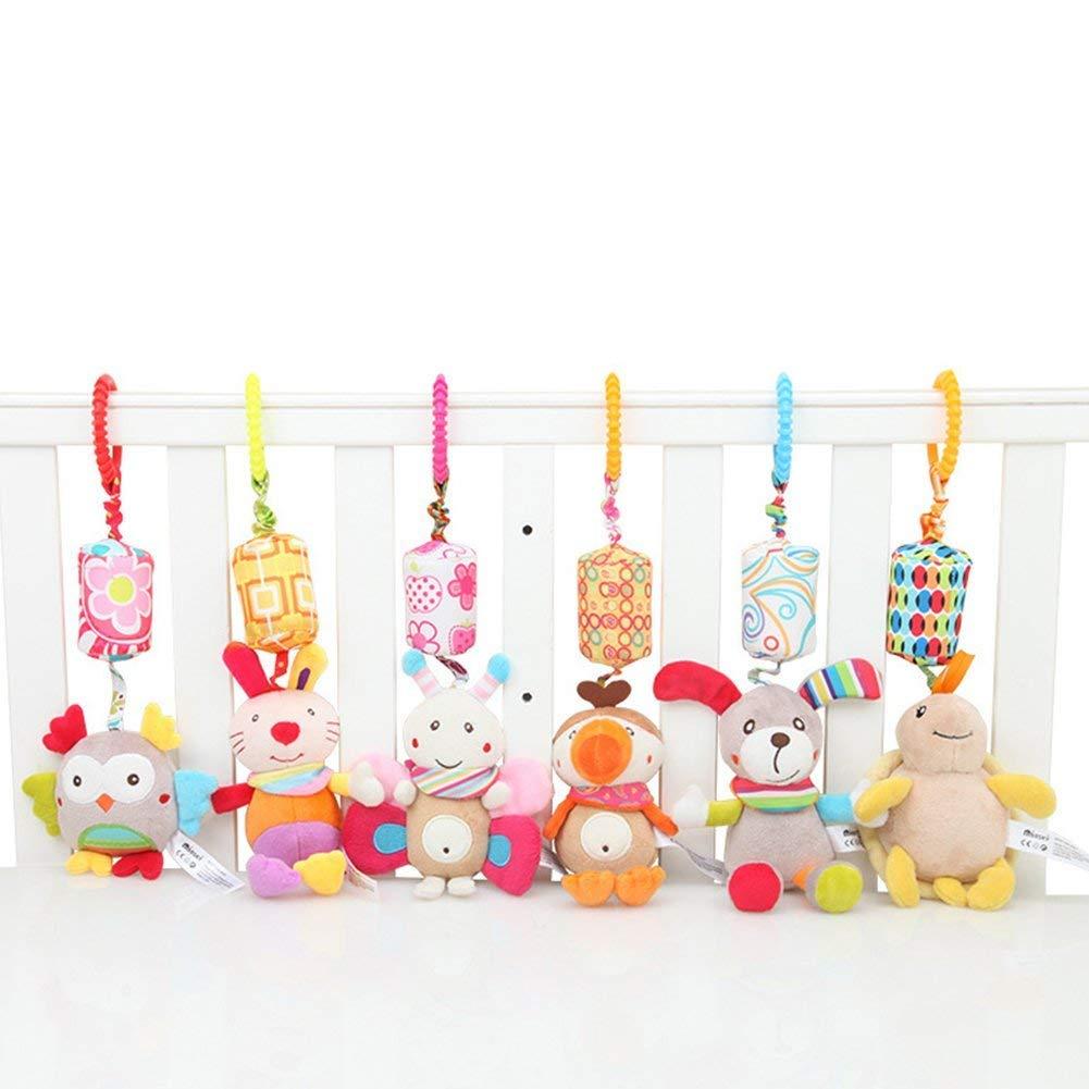 Hemore Baby Cartoon Animal pensili a vento giocattolo per neonato peluche sonaglio Toysbeers Health Baby Care