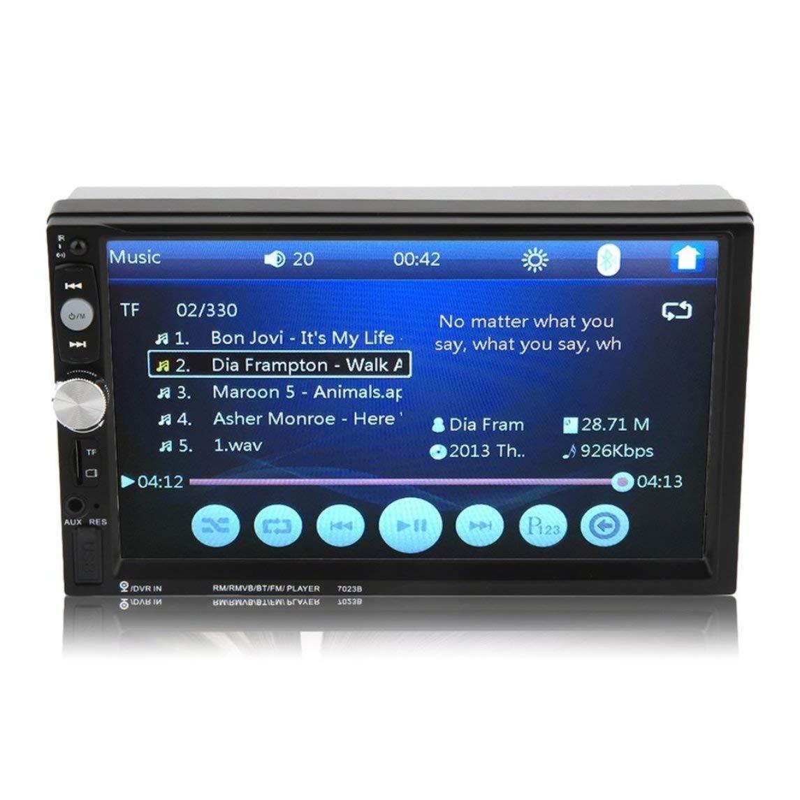 Footprintse 7023B Auto Car Doble DIN Reproductor de DVD del Coche 7 Pulgadas de Pantalla táctil TFT Multimedia Radio Reproductor de Bluetooth MP5 con ...