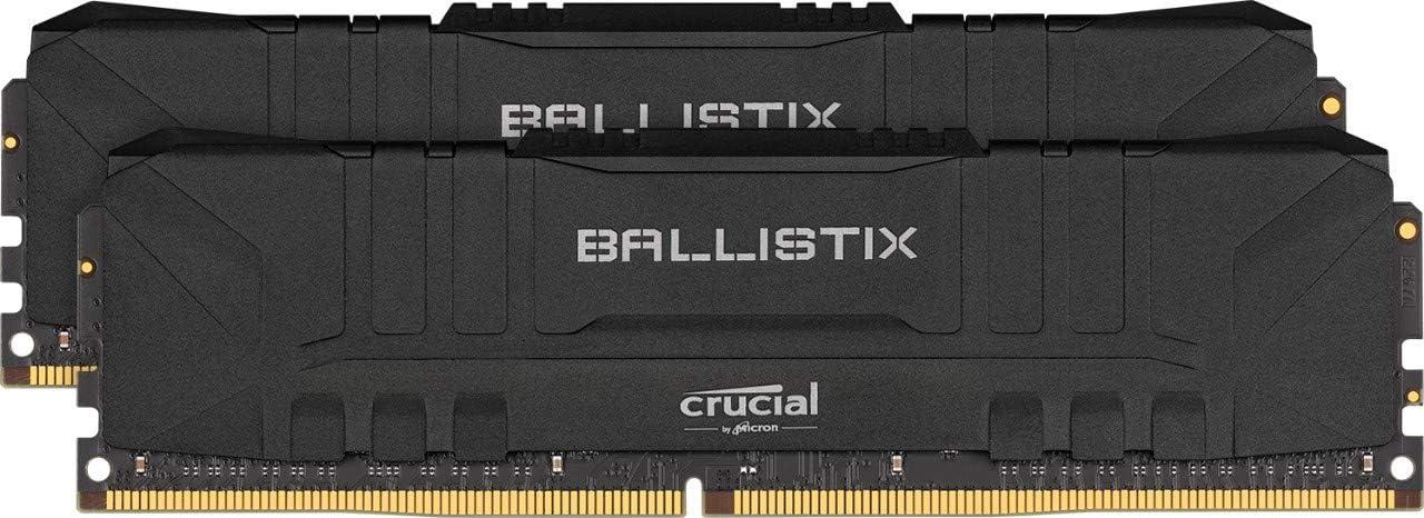 Crucial Ballistix 3200 MHz DDR4 DRAM Desktop Gaming Memory Kit 32GB (16GBx2) CL16 BL2K16G32C16U4B (Black)