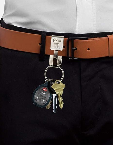 Lucky Line Key Safe Belt Key Ring Holder Slip On 47701 Black Powder Coat 1//Pk