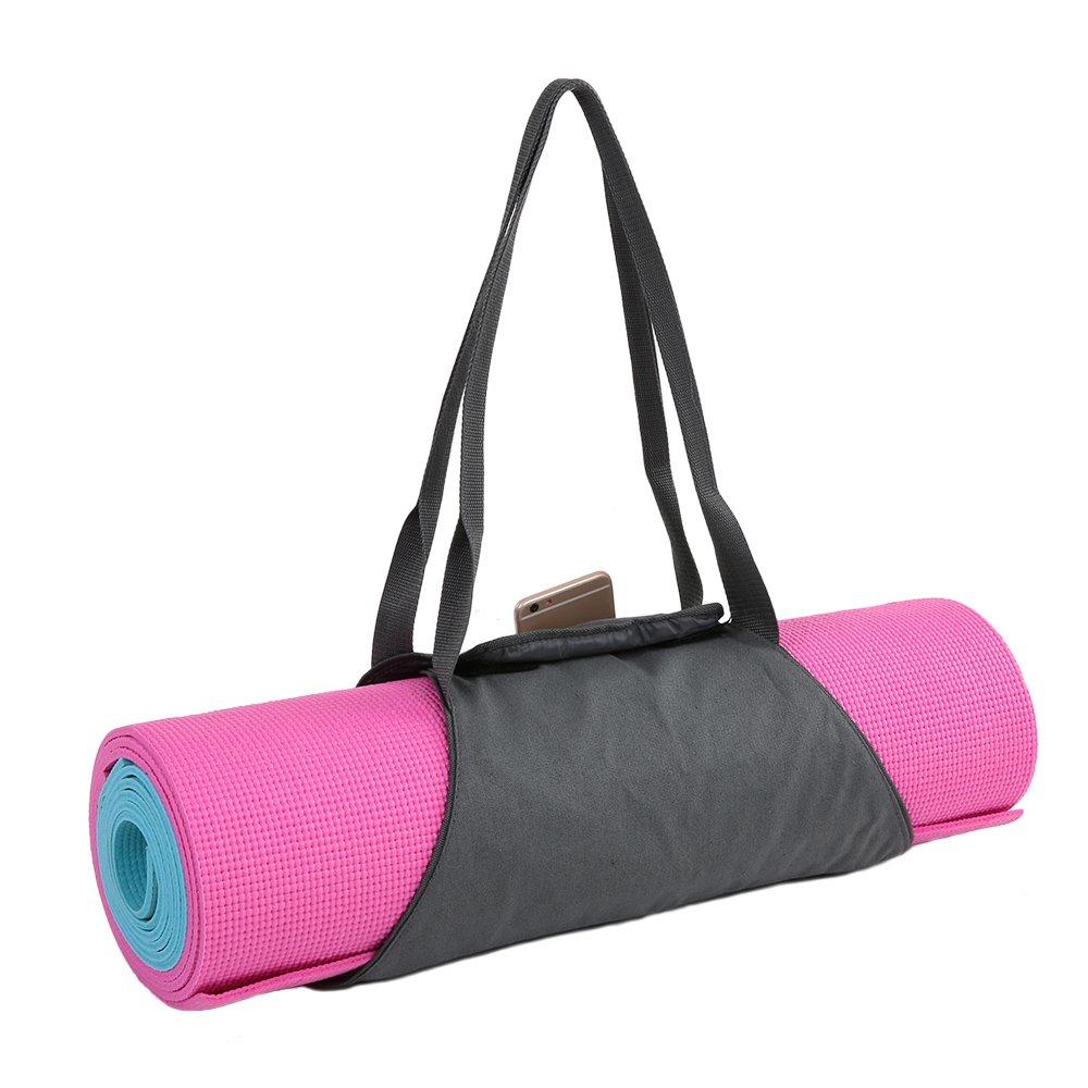 Docooler Yoga Mat Carrier Exercise Yoga Mat Bag with Multi-Functional Storage Pockets
