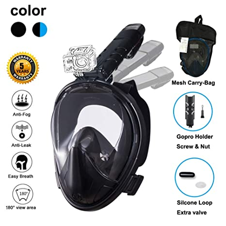5f48e3b2d4d1 Ufanore Full Face Snorkel Mask Adult and Scuba Diving Mask 180 View Large Snorkeling  Mask Anti
