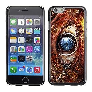 Caucho caso de Shell duro de la cubierta de accesorios de protección BY RAYDREAMMM - Apple iPhone 6 - Eye Technology Ai Robot Biotech Future