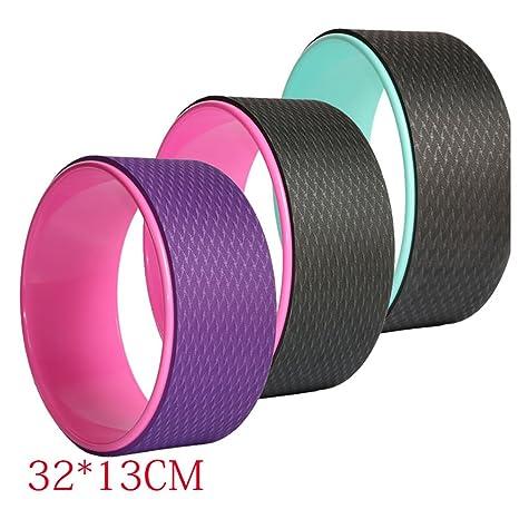 Amazon.com : elegantstunning 12.6 x 5.12 Yoga Wheel Yoga ...