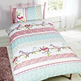 Little Birdies Single/US Twin Duvet Cover and Pillowcase Set