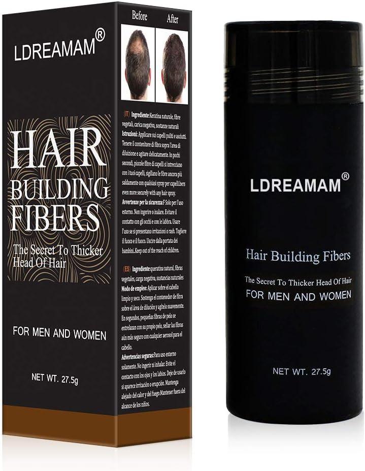 Hair Building Fibers,Hair Loss Concealer,Fibre Construcción de pelo Fibras de Cabello Naturales,Cabello fino y Escaso para Hombres y Mujeres-Efecto Inmediato