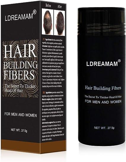 Hair Building Fibers Densificador de cabello, cabello fino y escaso, zonas de calvicie, efecto visible inmediato gracias a las microfibras de ...