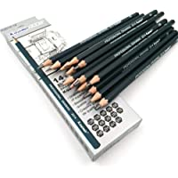 Aavjo Graphite Artist Quality Fine Art Drawing & Sketching Pencils (12B, 10B, 8B, 7B, 6B, 5B, 4B, 3B, 2B, 1B, HB, 2H, 4H, 6H), Set of 14 Pieces