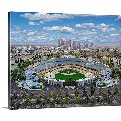 Los Angeles Dodger Stadium Canvas Wall Art Print, 30