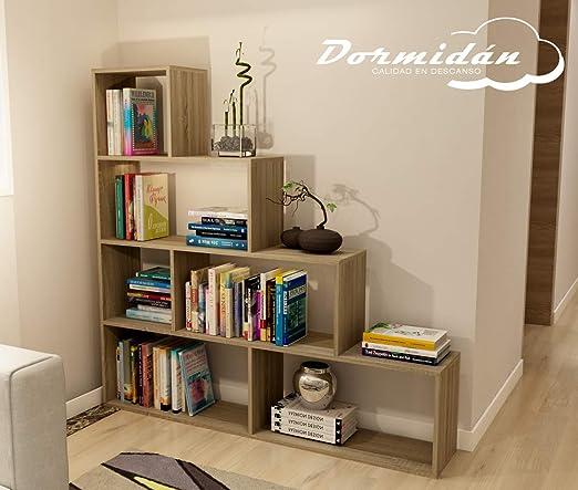 Dormidan- Estantería librería decoración, en Forma de Escalera, 140 x 136 x 25 cm (Roble) …: Amazon.es: Juguetes y juegos
