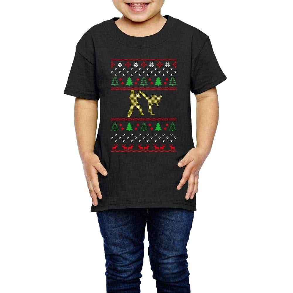 XYMYFC-E Judo Ugly Christmas 2-6 Years Old Boys /& Girls Short Sleeve Tee Shirt