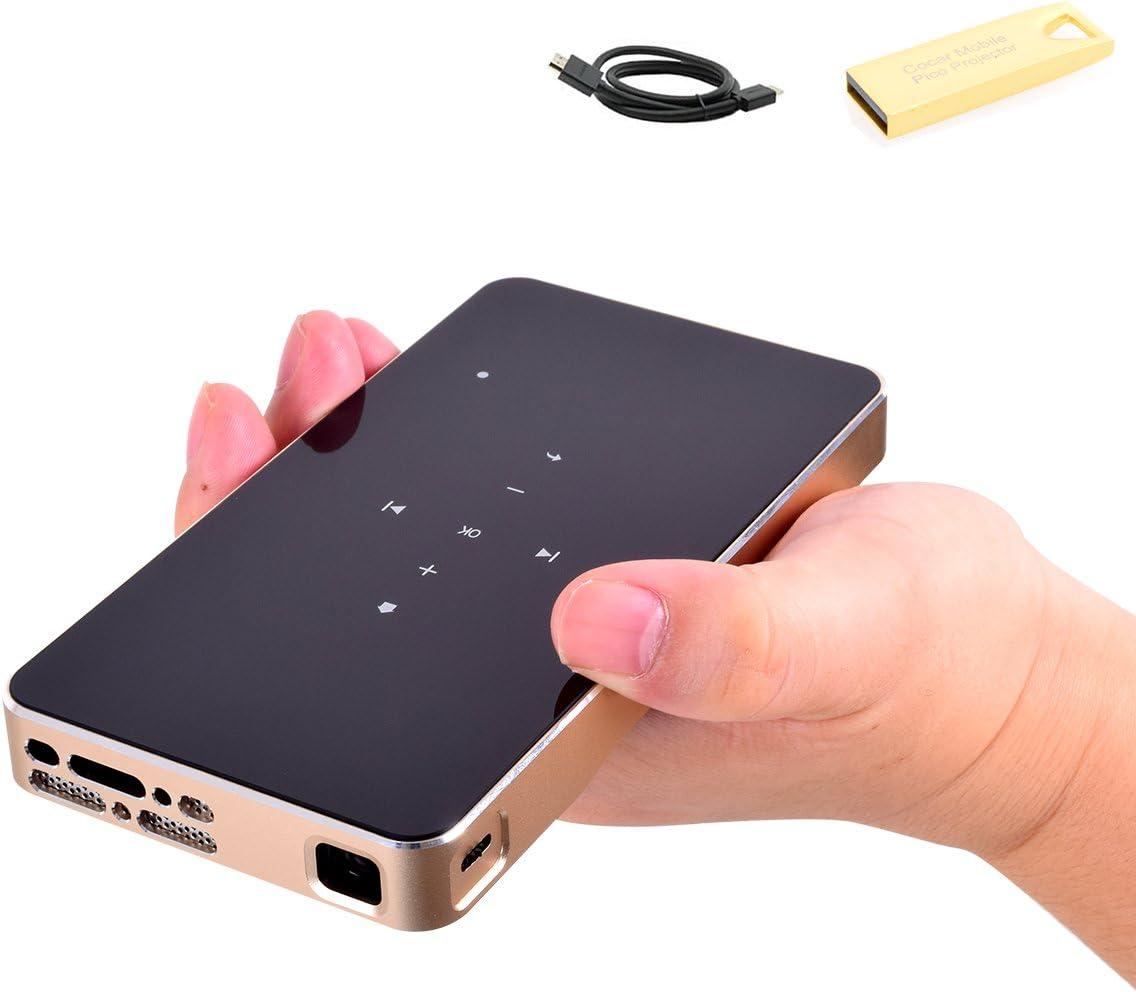 Mini Proyector, Cocar Pico Video Portátil DLP LED Proyector ...