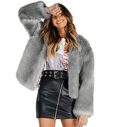Amazon.com : Fluffy Fur Coats for Women O-Neck Coat Warm Winter Coat Hood Parka Overcoat Solid Jacket Outwear : Grocery & Gourmet Food