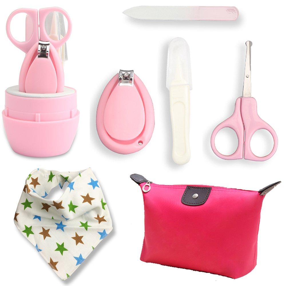 Hicat Baby Grooming Kit, Travel Bathing Kit (Pink)