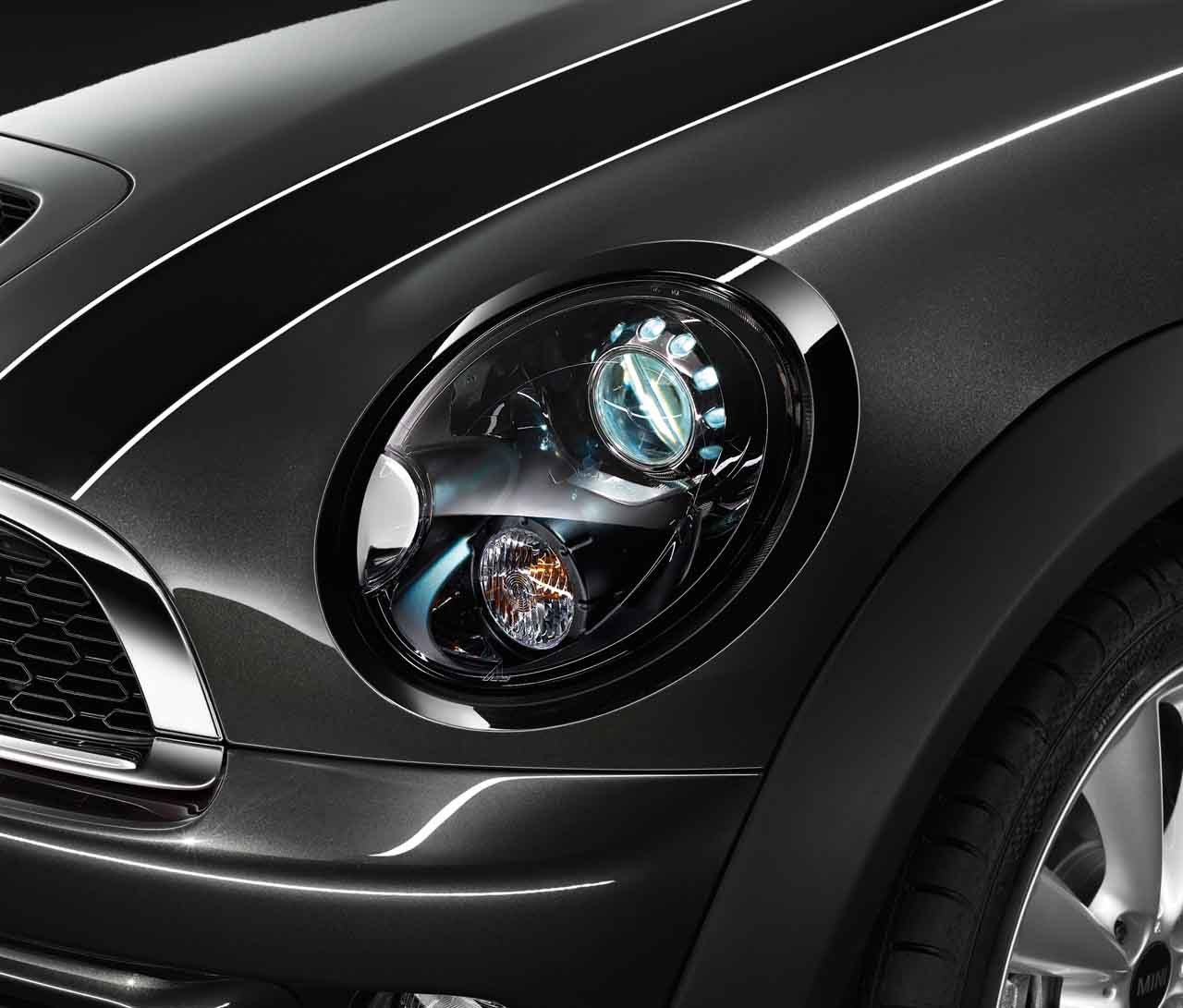 MINI Genuine Left N//S Headlight Headlamp Trim Ring In Jet Black 51132254895