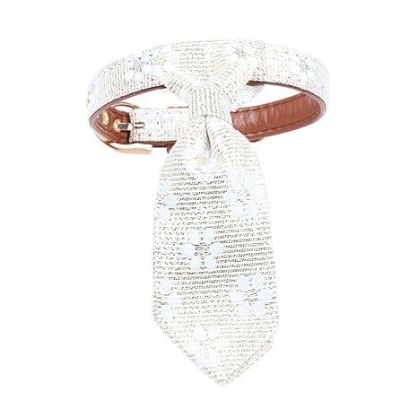 Reefa correa con Bandana/corbata regulable o collar PU para ...