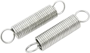 """4/"""" EXTENSION SPRING 1//2/"""" OD X 3//8/"""" ID X .062/"""" WIRE HOOK END 5 PCS"""