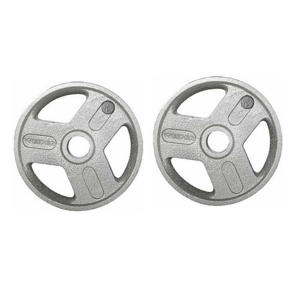 Heavy-duty Hammertone Coated Weight Plate, Set of 2 (2.5)