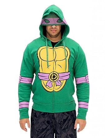 Amazon teenage mutant ninja turtles costume zip hoodie clothing tmnt donatello zip hoodie size large color green solutioingenieria Choice Image
