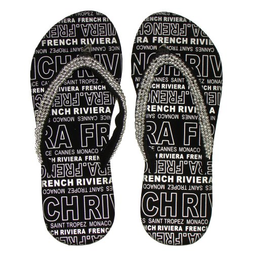 Robin Ruth - French Riviera Robin Ruth Thongs - Color : Silver