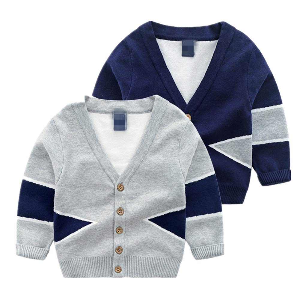 Beide Baby Boy Cardigan Gentleman V-Necked Button Sweater Coat