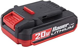 Bauer 1701C-B Hypermax Lithium 1.5Ah Compact Battery, 20 V