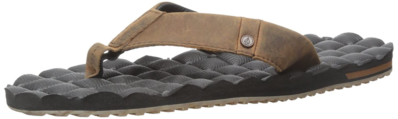 cd5b75b10ed2 Amazon.com  Volcom Men s Recliner Leather Sandal  Shoes