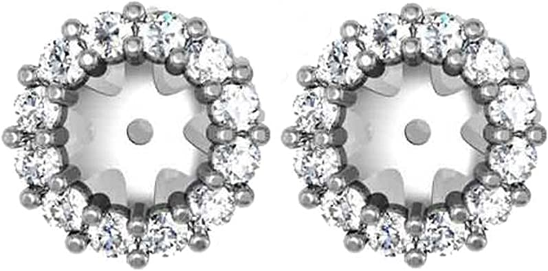 Details about  /Retail $995 Diamond Earring Jackets 14K Yellow Gold Fits 1//2ct Stones 5-5.5mm
