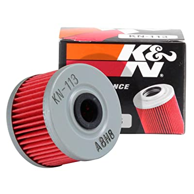 K&N Motorcycle Oil Filter: High Performance, Premium, Designed to be used with Synthetic or Conventional Oils: Fits Select Honda ATV Models, KN-113: Automotive