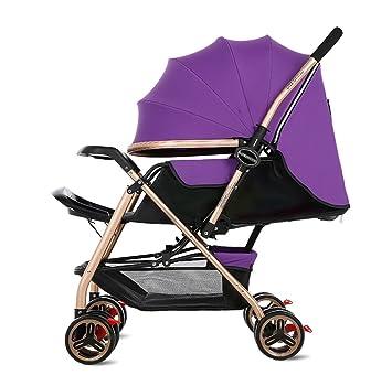 Carrito de bebé Carrito de bebé recién nacido plegable puede sentarse y acostarse amortiguar el carrito
