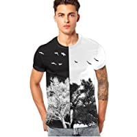 T-Shirt da uomo _ feiXIANG Moda Casuale Maniche Corta Girocollo T Shirt Stampa Digitale Camicetta Maglietta da Uomo Camicie da Uomini Tees Manica Corta Tops Maniche Corte Polo