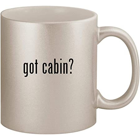 Review got cabin? - 11oz Ceramic White Coffee Mug Cup, Silver