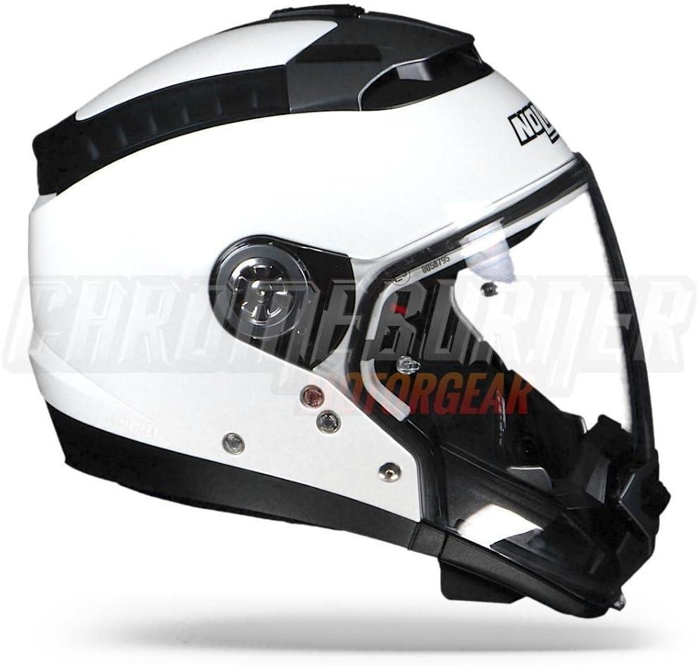 Color Metal White Size Nolan N 44/Evo Classic N-Com Crossover Helmet XXS