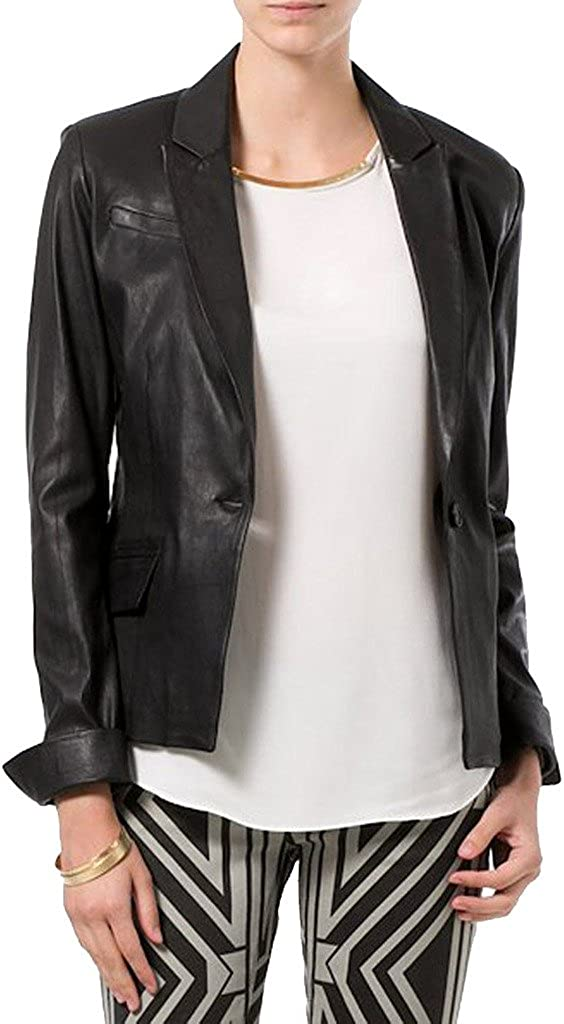 Womens Sheep Leather Motorcycle Slim Fit Outwear Jackets LFW008