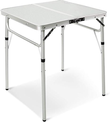REDCAMP Mesa Plegable de Aluminio de 2/3/4/6 pies, Mesa de Camping portátil de Altura Ajustable, Resistente y Ligera, 24 pulgadas/36 pulgadas/48 ...
