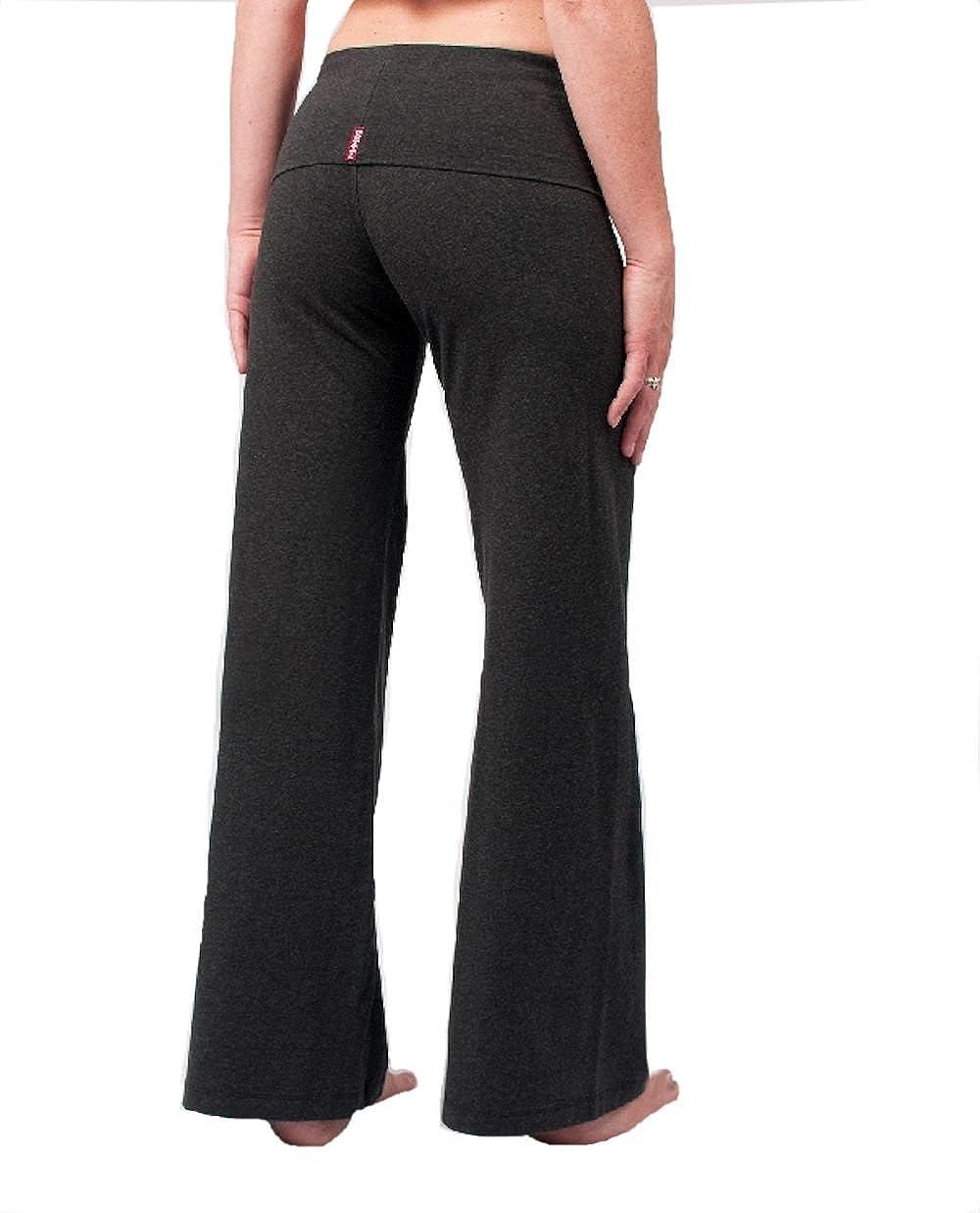 a668d9a608511 Amazon.com: Hard Tail Contour Rolldown Wide Leg Yoga Pants - Dark Charcoal:  Clothing