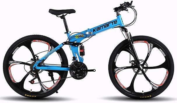 MoMi Bicicleta de montaña Plegable con Rueda de 6 Cuchillas 24/26 ...