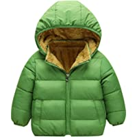 Zerototens Boys Coat,1-6 Years Old Toddler Infant Kids Long Sleeve Solid Color Hooded Zipper Jacket Autumn Winter Padded Windproof Overcoat Basic Tops