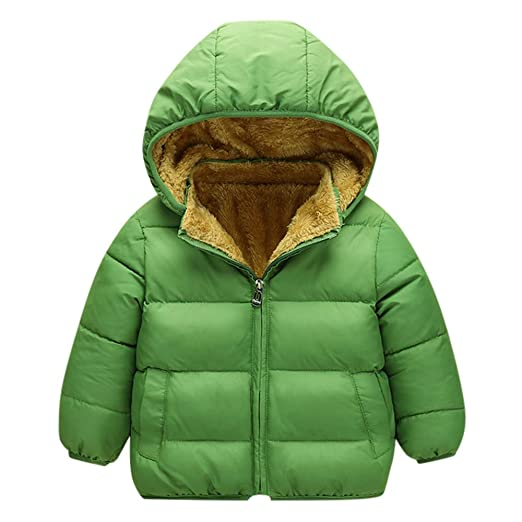 0b32010ce Amazon.com: VEKDONE Winter Coats Kids Hoods Super Warm Light Puffer ...