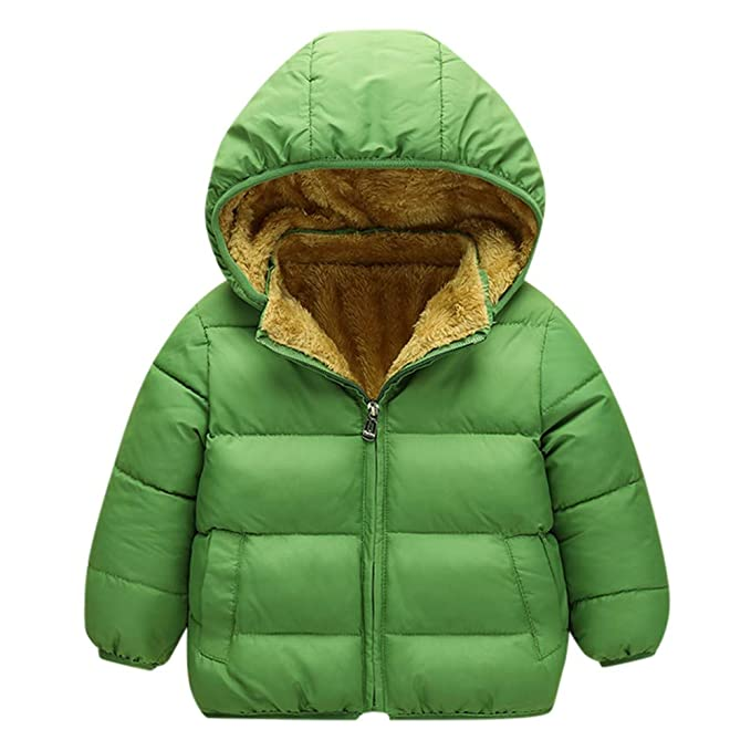 4a79b0447 Amazon.com  Baby Toddler Boy Girl Winter Clothes Hoodie Warm Coat 1 ...