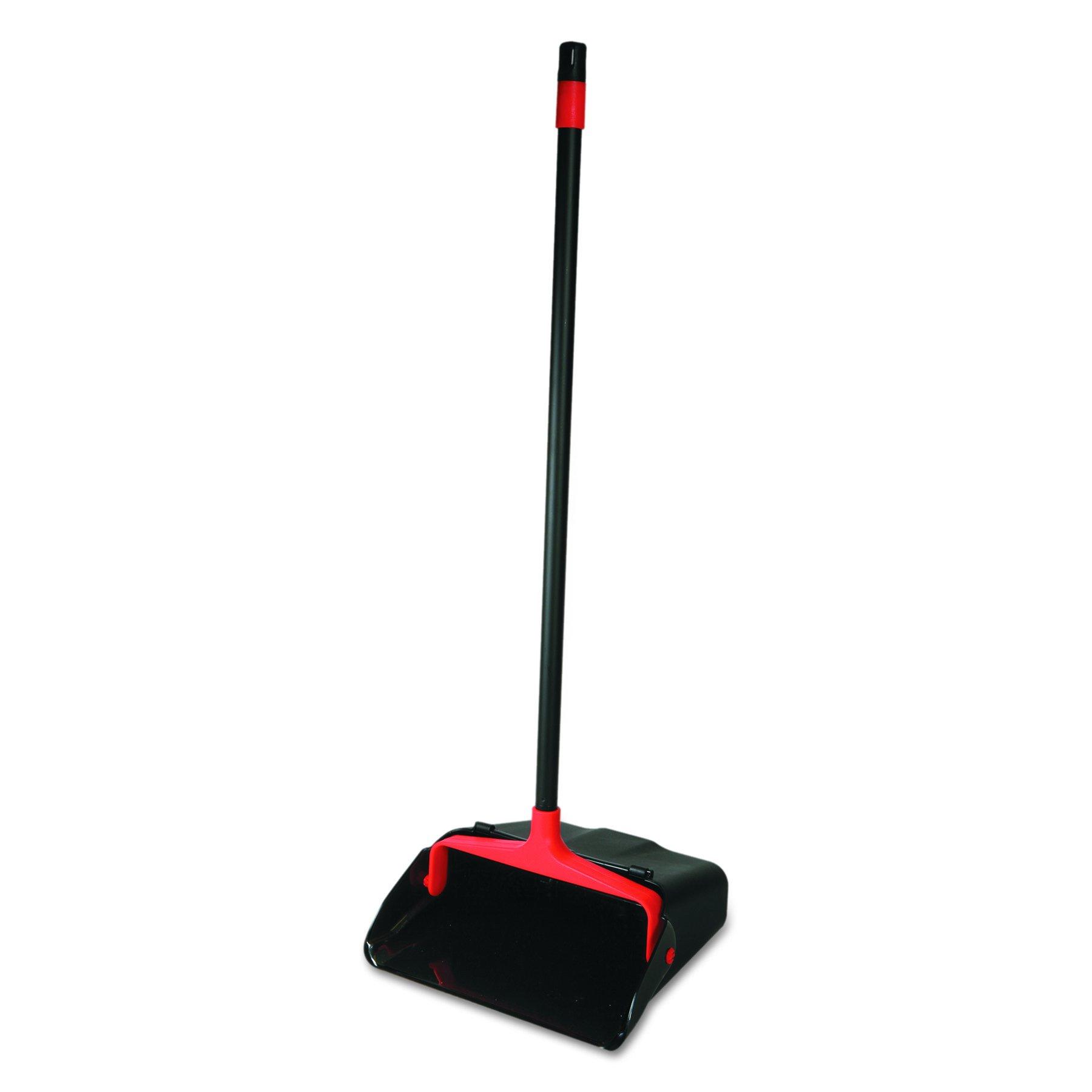O-Cedar Commercial CB962082 Maxi-Plus Lobby Dust Pan with Rear Wheels, Black, 13''Wide, 30''Handle (Case of 6)
