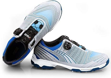 GRASSAIR Zapatos de Golf para Hombre, Zapatos Impermeables degradados con Cordones giratorios Transpirable Ligero para cancha de Entrenamiento de Golf al Aire Libre y bajo Techo,B,39: Amazon.es: Deportes y aire libre