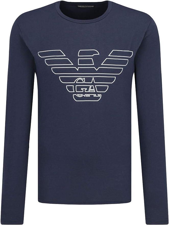 Emporio Armani T-Shirt Camisa Cuello Redondo Hombre Manga Larga Algodon organico artículo 111287 9A578: Amazon.es: Ropa y accesorios