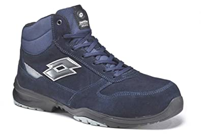 SCARPA ANTINFORTUNISTICA LOTTO MOD. FLEX EVO 800 MID MEMORY FOAM S3 HRO SRC  - ART. S1204 - NAVY DARK / TITAN GREY